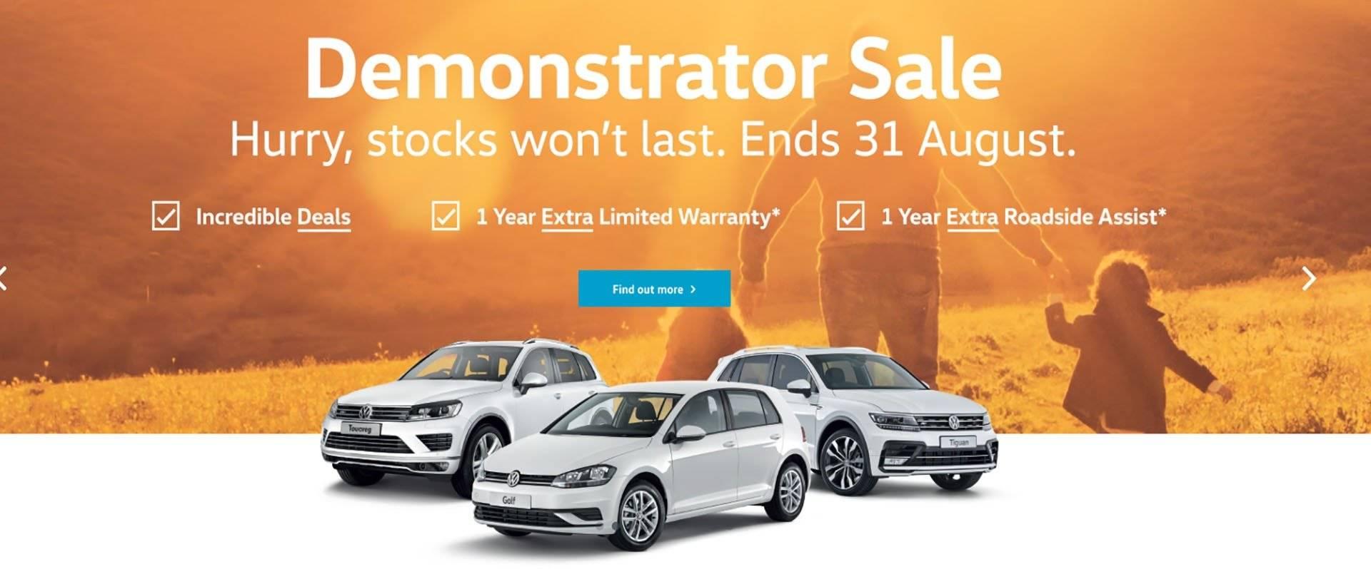 FTG Volkswagen - Demonstrator Sale