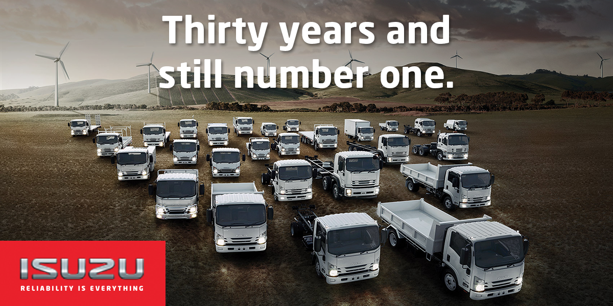 blog large image - Isuzu's 30th year of being the leading brand was set in a record year of truck sales