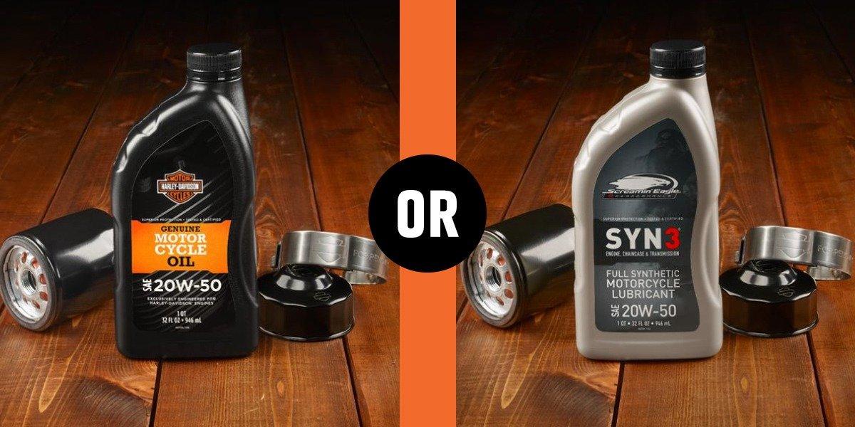 blog large image - Screamin' Eagle® Syn3® vs H-D® Genuine Oil SAE 20w50