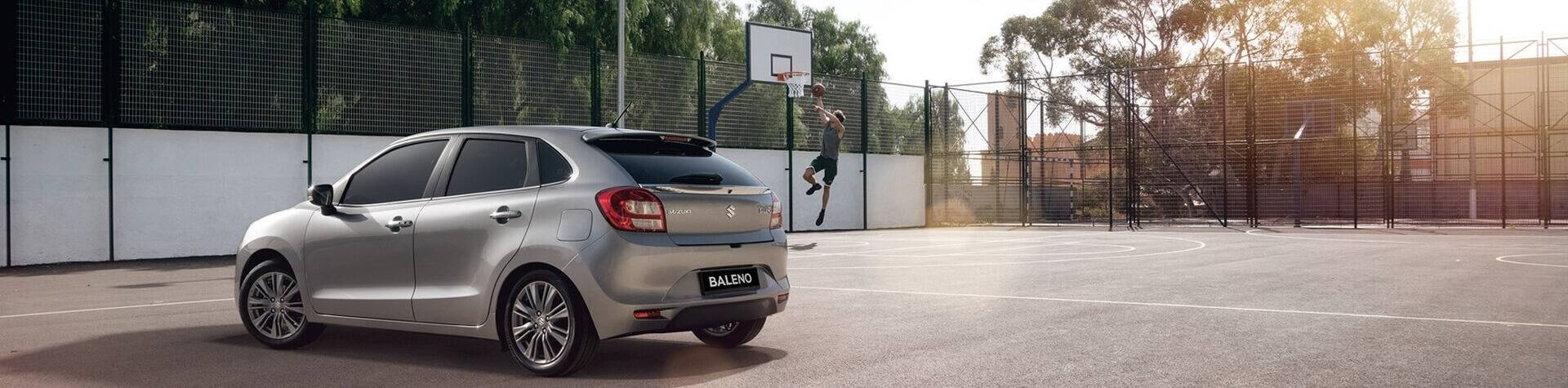Suzuki Baleno in Geraldton Basketball Court