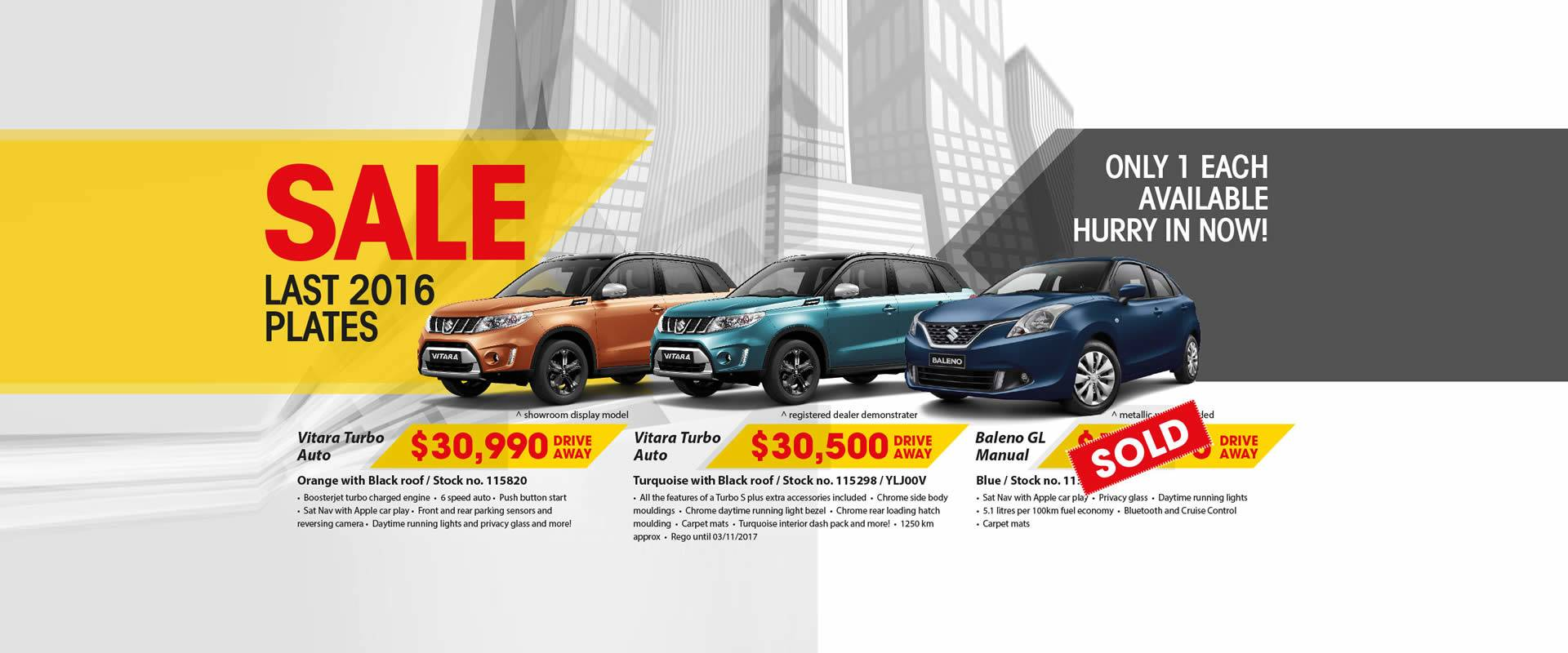 NCM Suzuki Sale