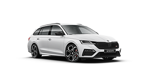 Skoda Octavia RS Wagon Moon White Metallic