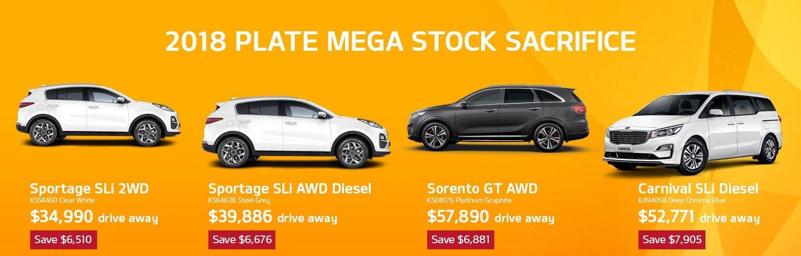 2018 plate Mega Stock Sacrifice