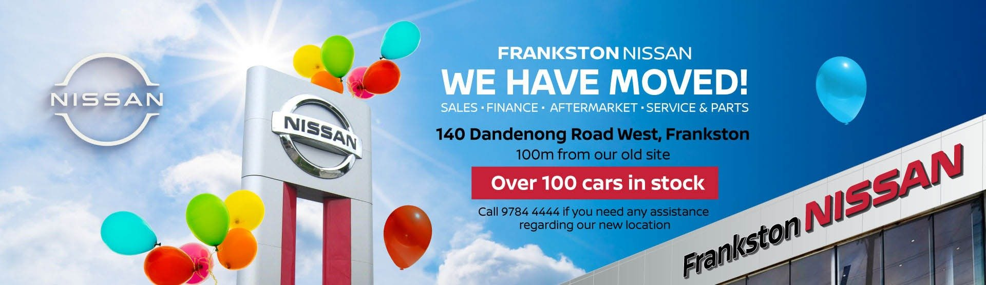 Frankston Nissan - We have moved banner