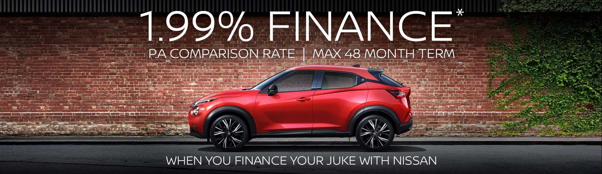 JUKE 1.99% Finance