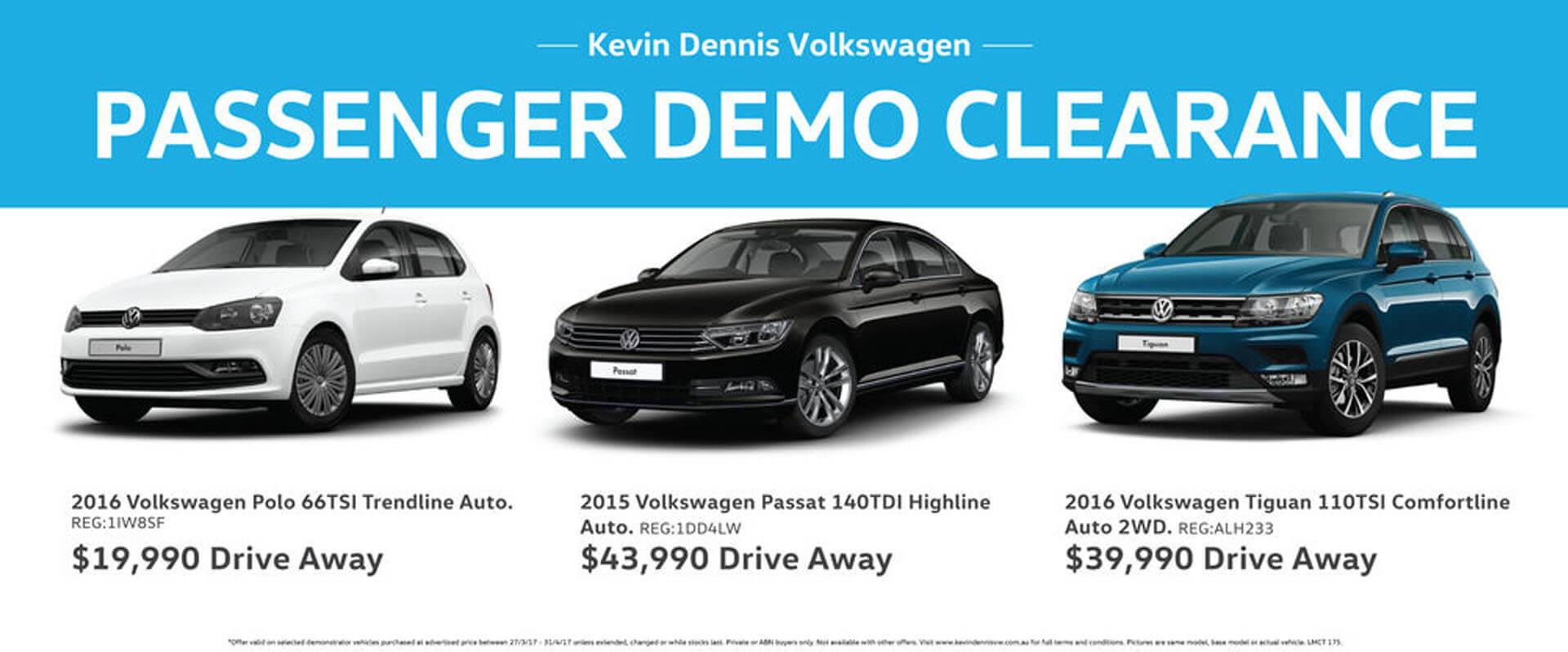 Passenger Demo Clearance