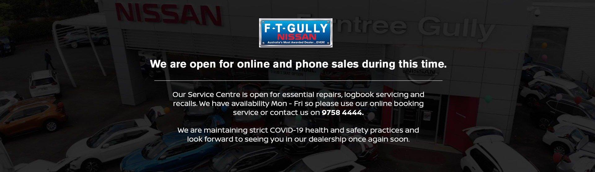 Ferntree Gully Nissan Covid Notice