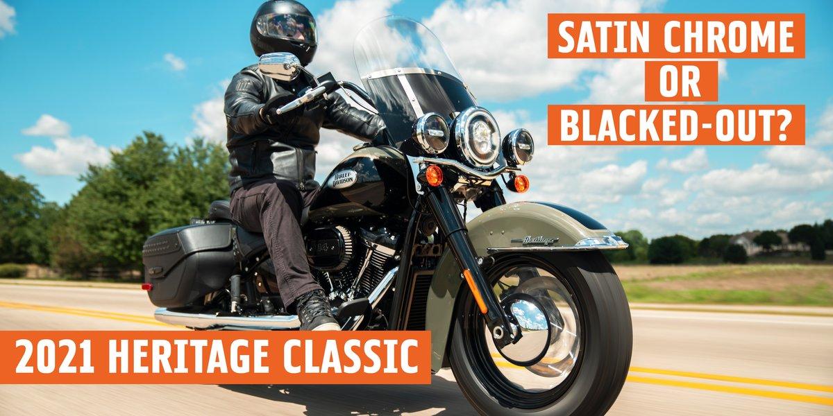 blog large image - H-D® 2021 Heritage Classic - Chrome or Black?