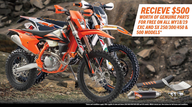MY18/19 KTM 250/300/450/500