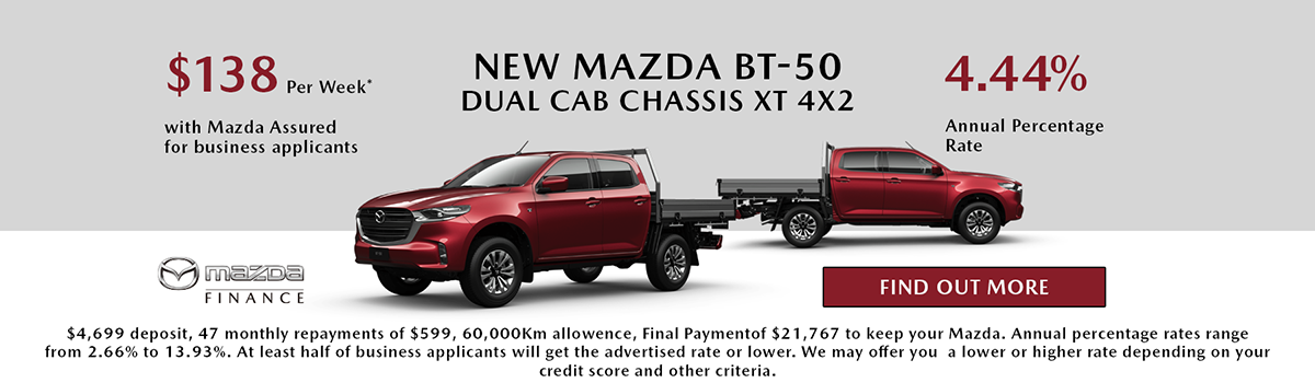 NEW MAZDA BT-50 DUAL CAB CHASSIS XT 4x2 Large Image
