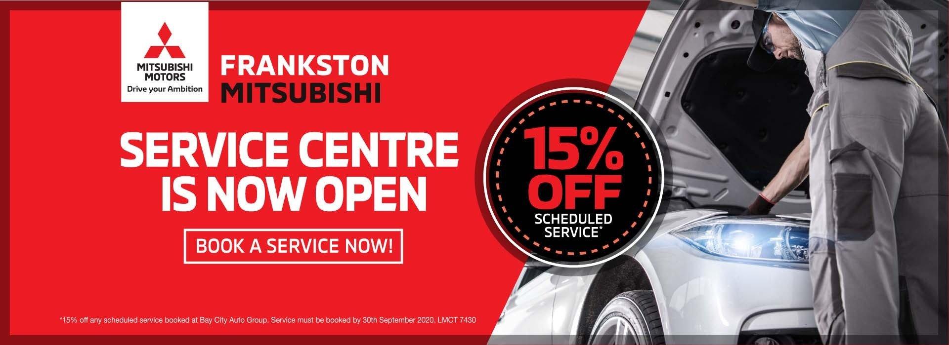 Frankston Mitsubishi - Service is open