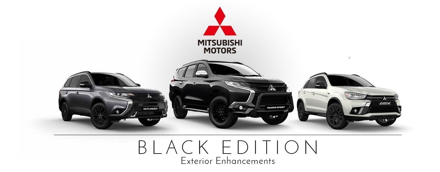 Mitsubishi Black Edition ASX Pajero Outlander Heritage Motors Maitland Newcastle Hunter