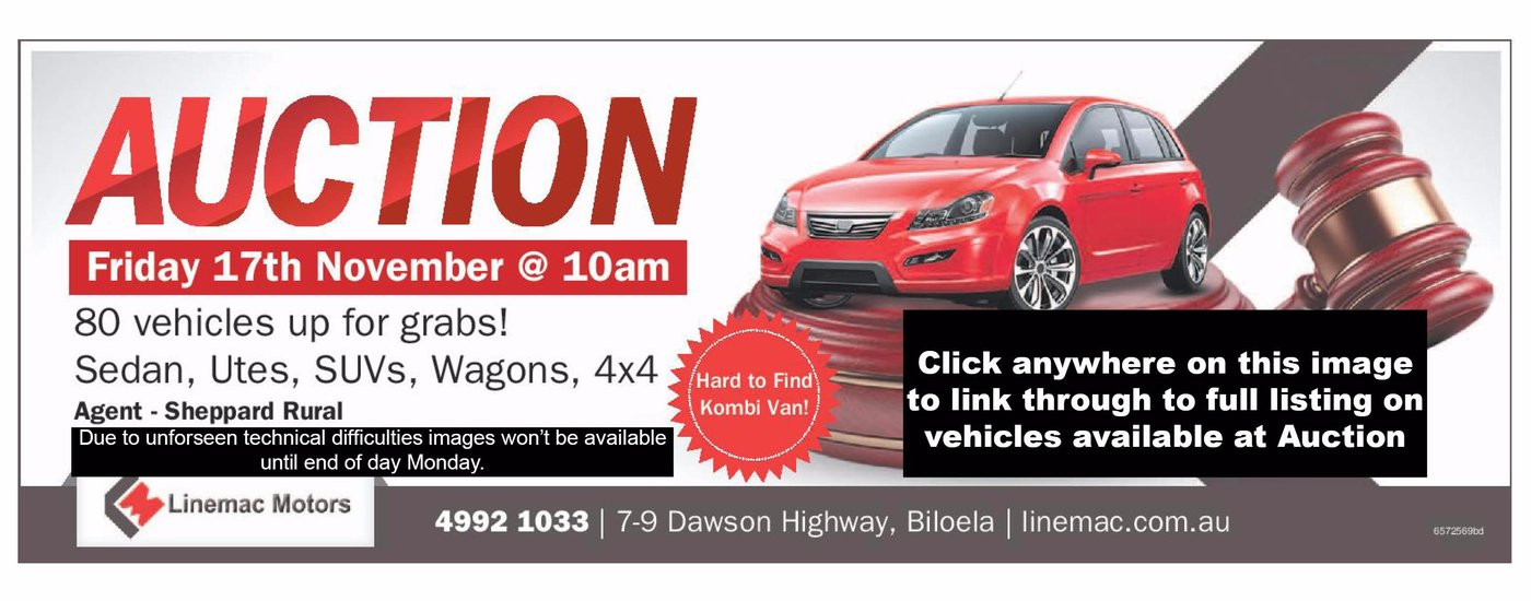 Auction, Friday 17th November @ 10am