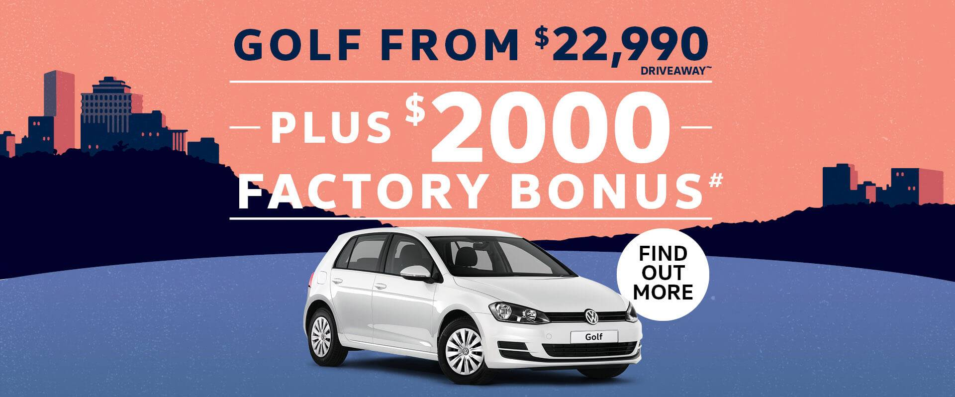 Golf from $22,990