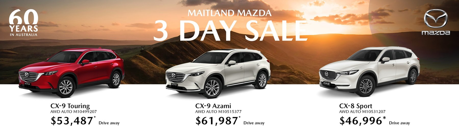 Maitland mazda 3 day sale