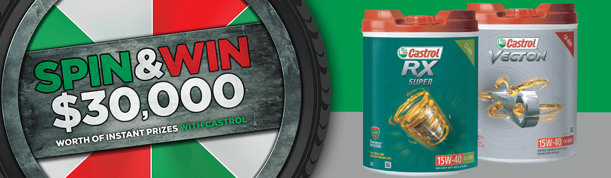 Spin & Win $30,000 of instant prizes with Castrol! Large Image