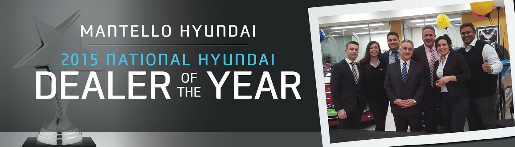 Mantello Hyundai Dealer of the Year