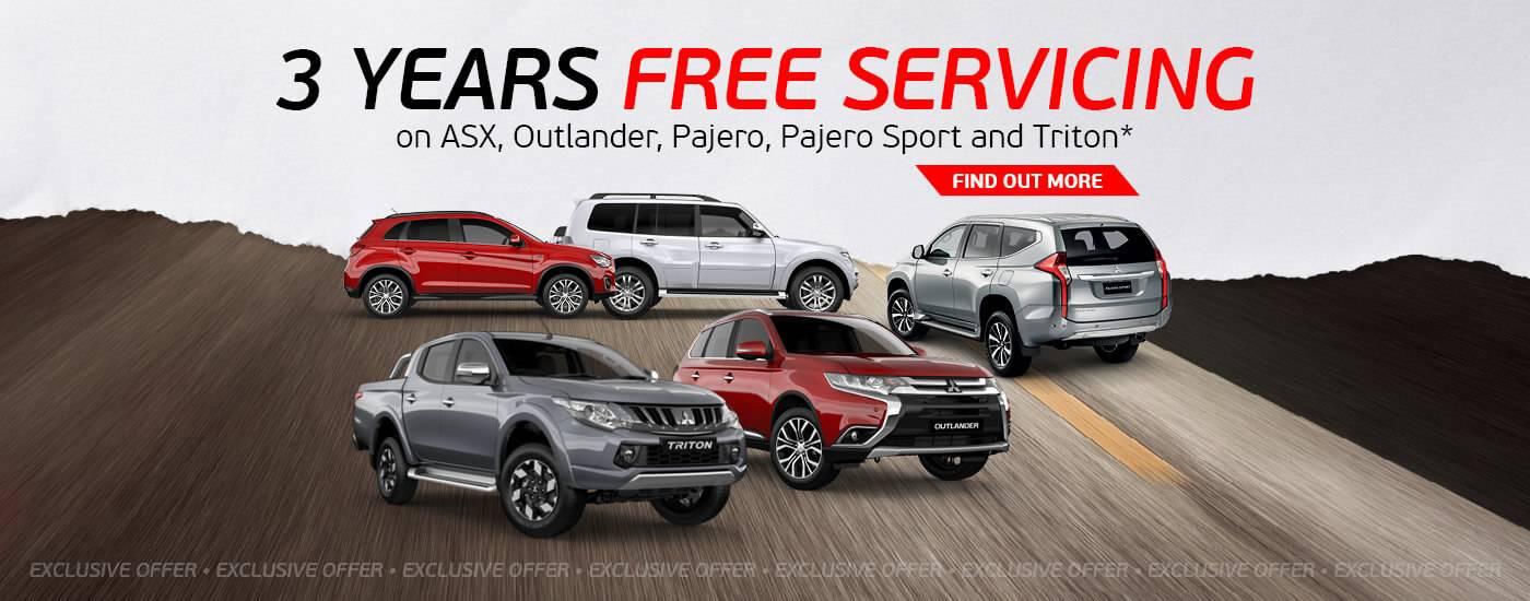Preston Mitsubishis-3 Year Free Servicing