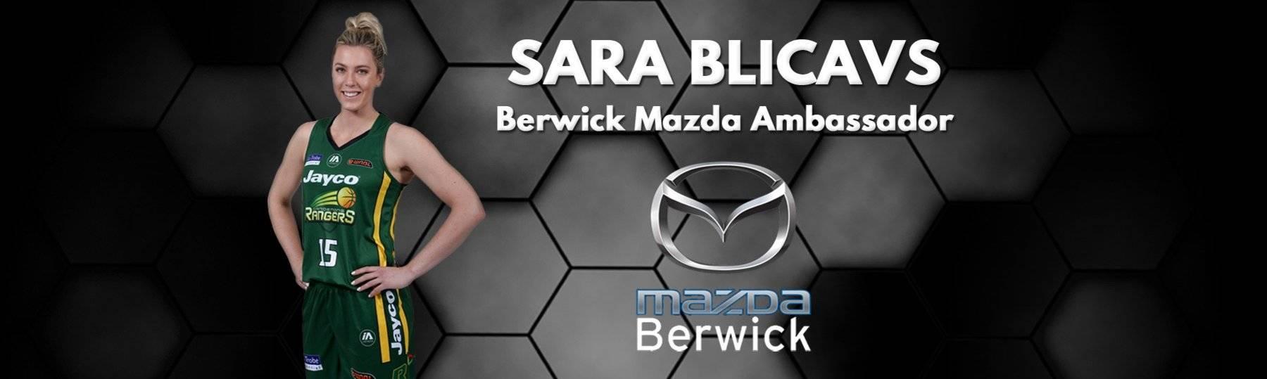Sara Blicavs WNBL Jayco Rangers Berwick Mazda Ambassador