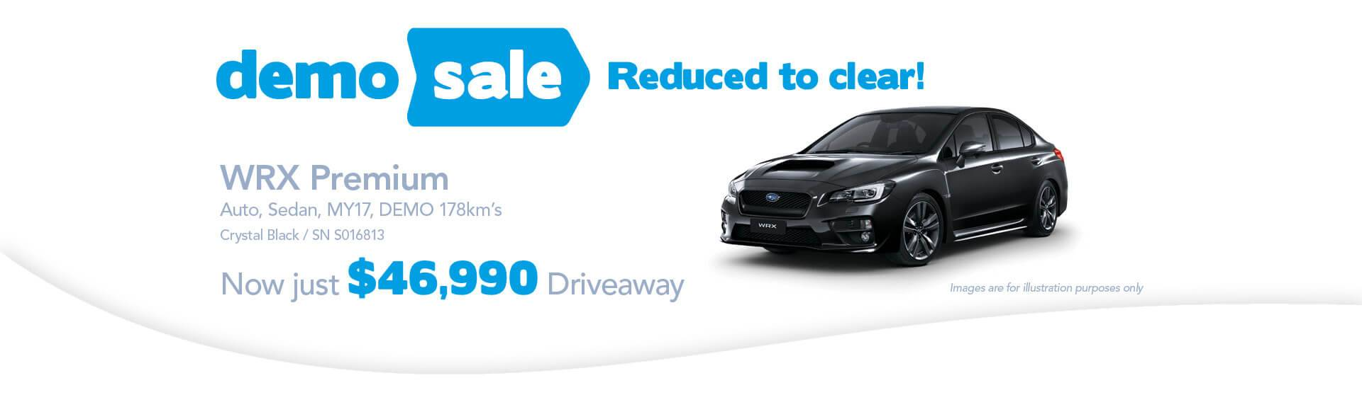 Newcastle City Subaru- WRX Demo Sale