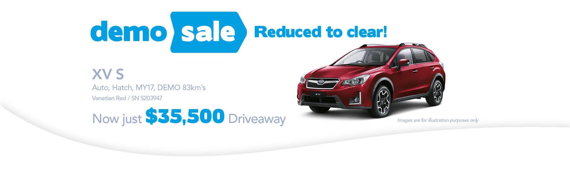 Newcastle City Subaru - XV-S Demo Sale