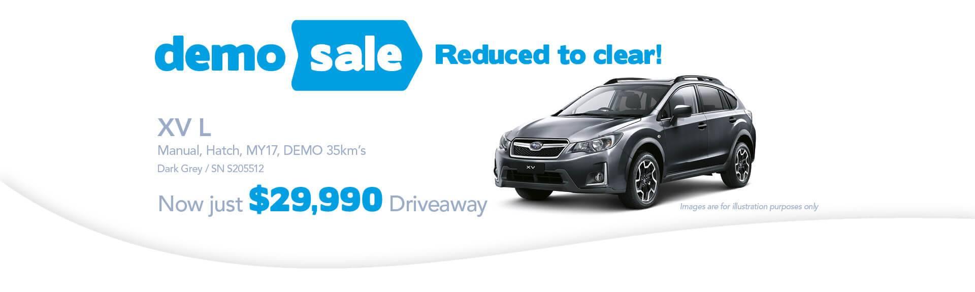 Newcastle City Subaru - XV-L Demo Sale