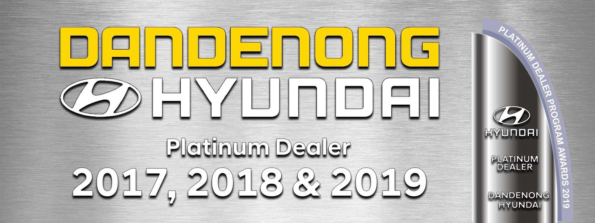 Dandenong Hyundai - Platinum Dealer banner