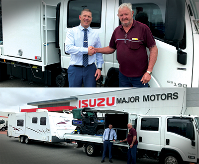 Isuzu NPR set up to wander image
