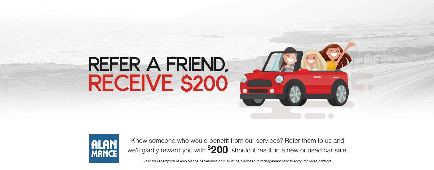 Alan Mance Mitsubishi - Refer a Friend