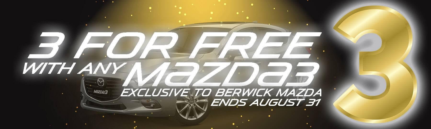 Berwick Mazda 3 For Free