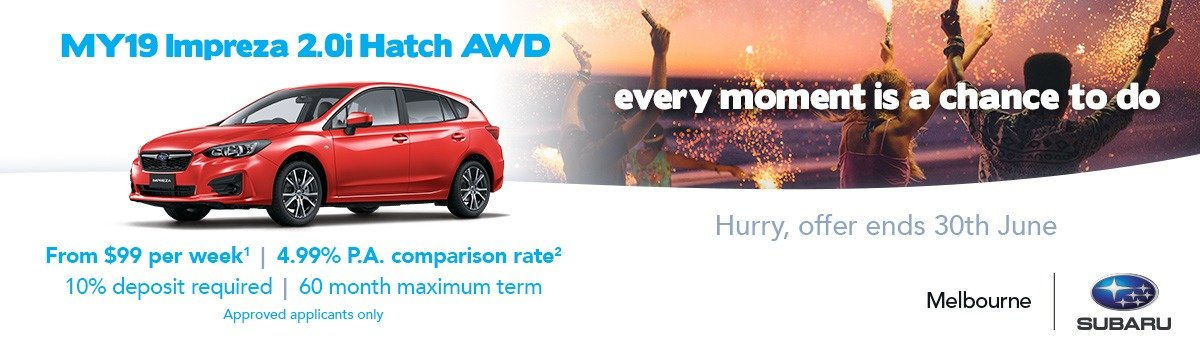 MY19 Impreza Finance Offer Large Image