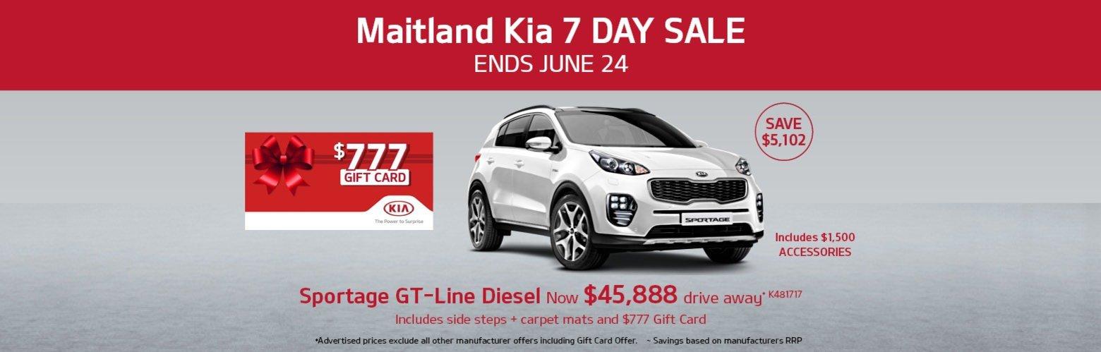 Maitland Kia 7 Day Sale