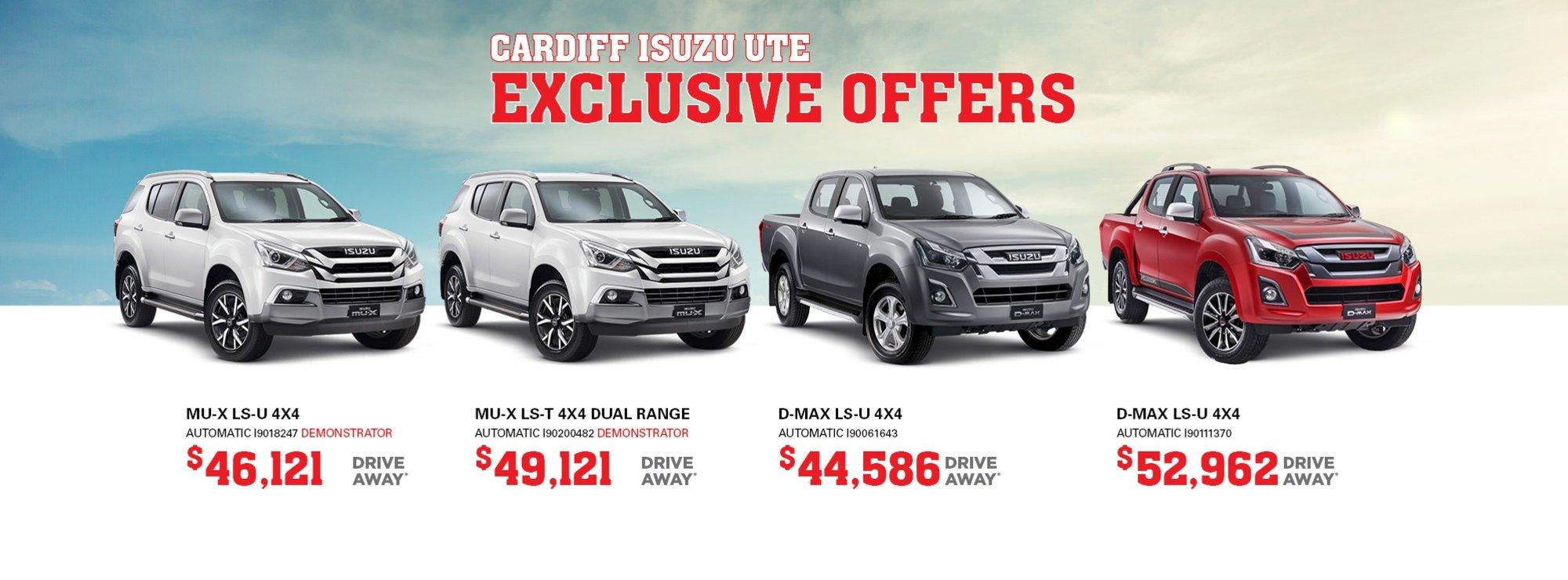 cardiff isuzu ute exclusive offers