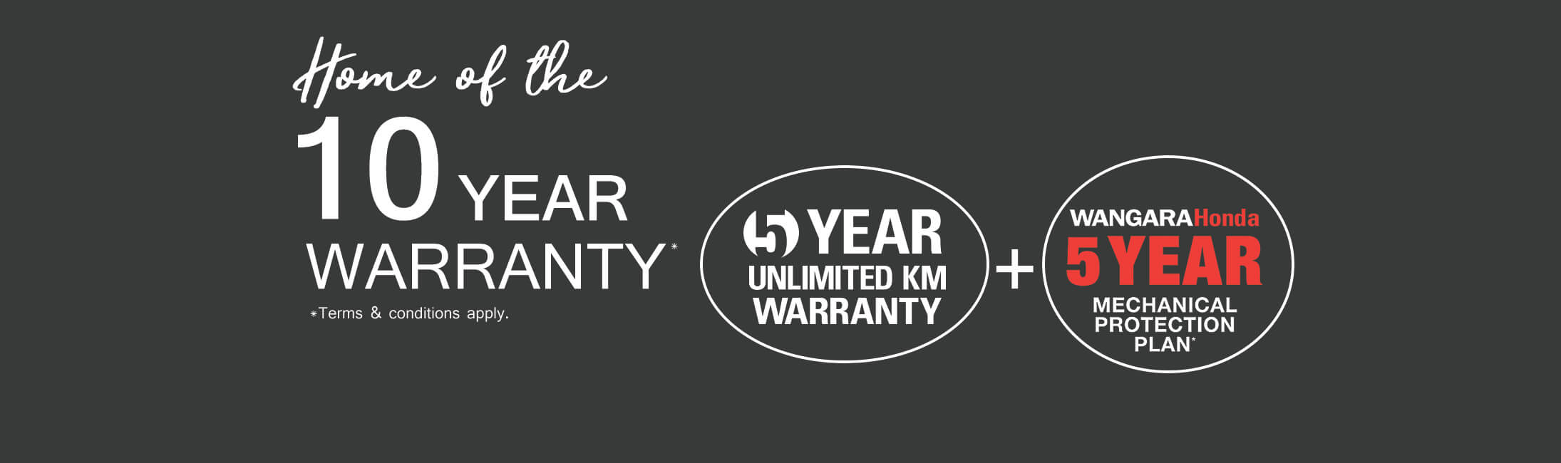 Wangara Honda - 10 Year Warranty