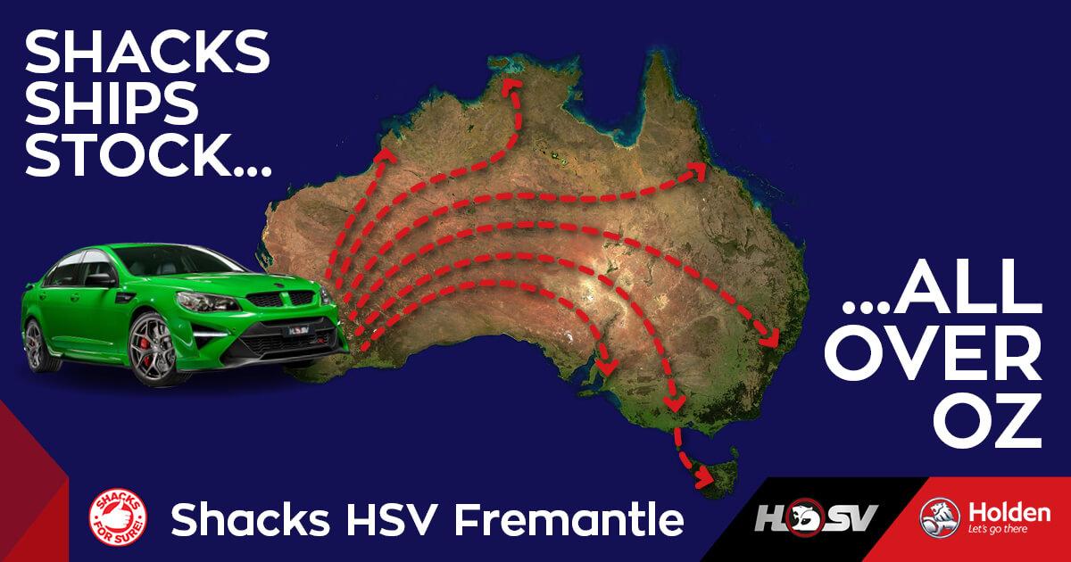 Shacks HSV Ships Australia-Wide