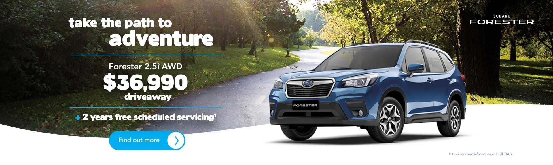 Subaru North Shore - Forester Offer