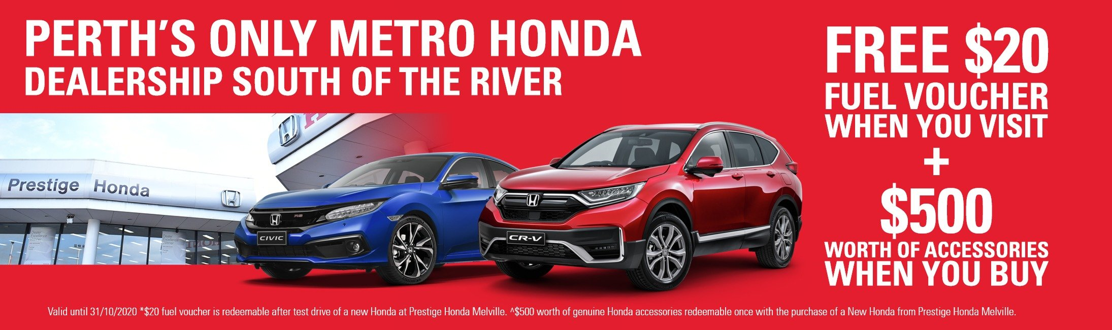 Perth's only Honda dealership south of the river.