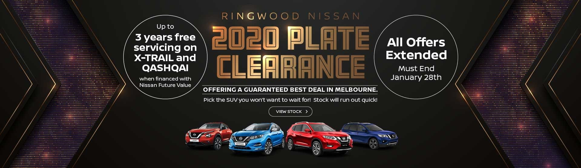2020 Plate Clearance