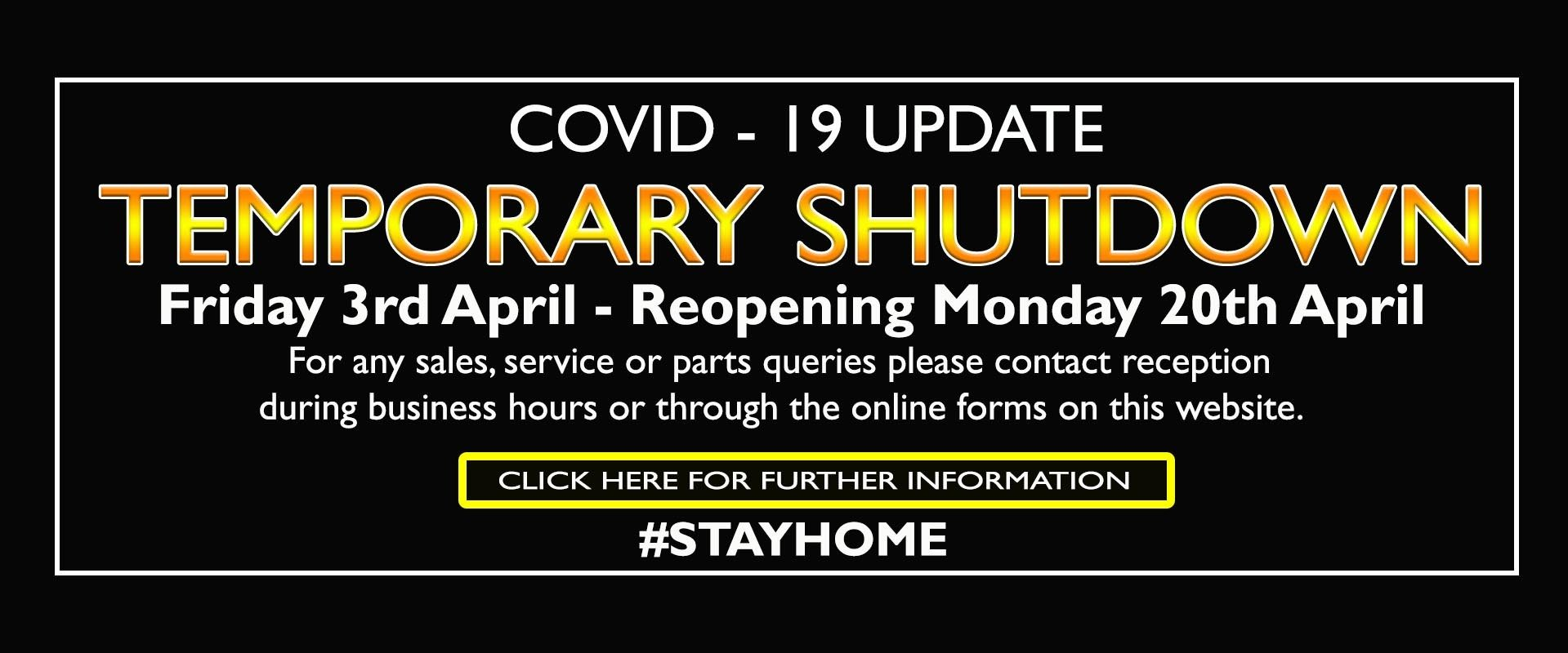 COVID19 update banner
