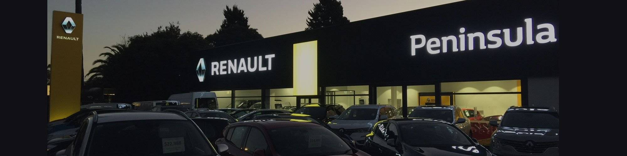Peninsula Renault Dealership Banner