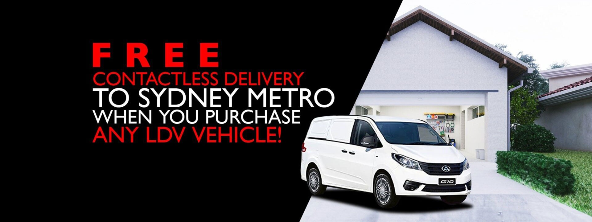 Free Contactless Delivery to Sydney Metro When You Purchase Any LDV Vehicle