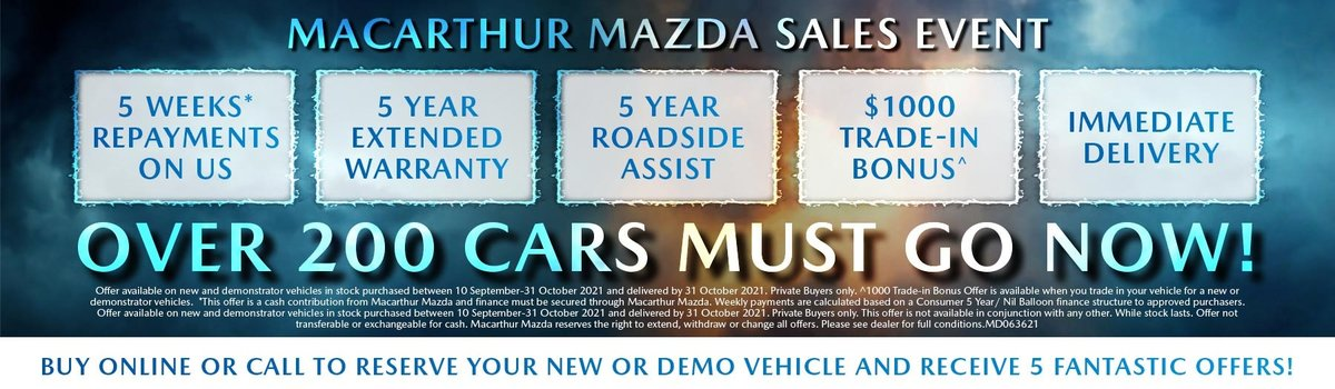 Macarthur Mazda - We're Open | No repayments until 2022 Large Image