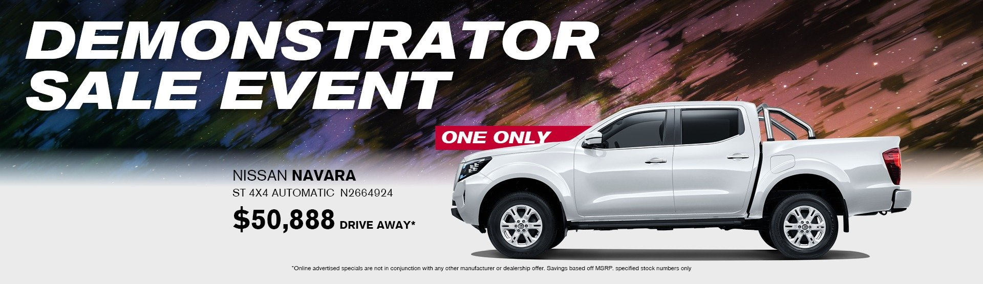 Demonstrator sales event Navara ST
