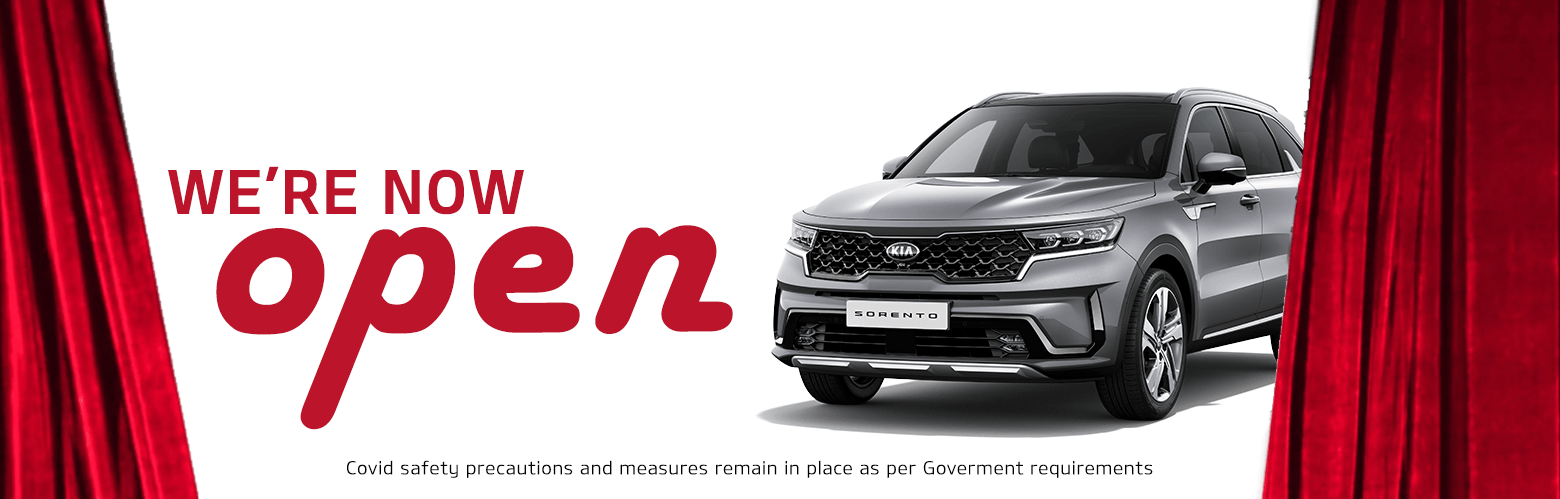 We're Now Open - Blackburn Kia