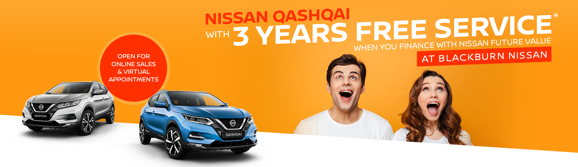 Blackburn Nissan Qashqai 3 Years Free Service