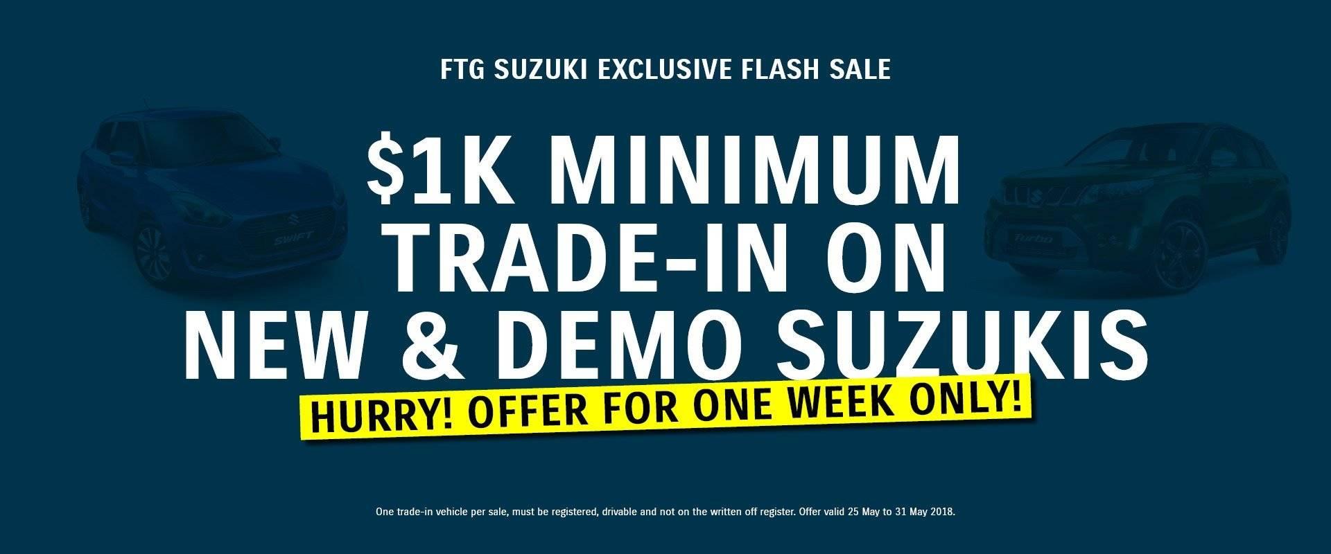 Ferntree Gully Suzuki Minimum Trade In Flash Sale