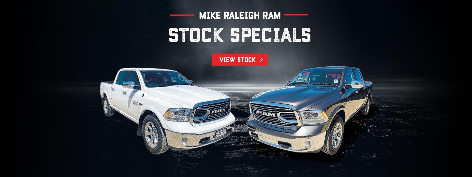 Mike Raleigh Motors Ram Stock Specials
