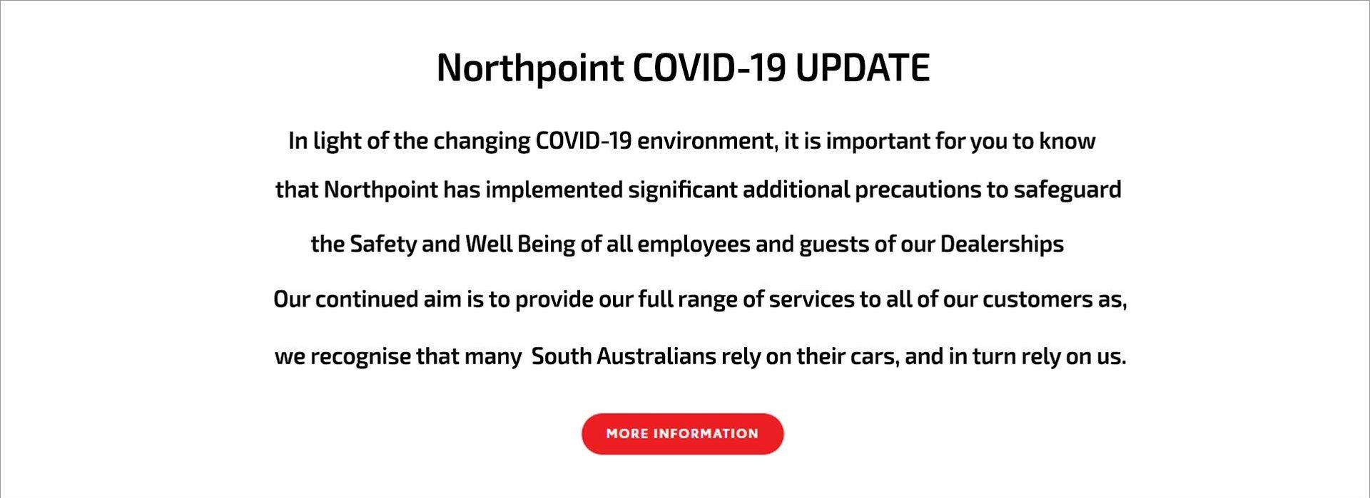 Northpoint COVID-19 UPDATE