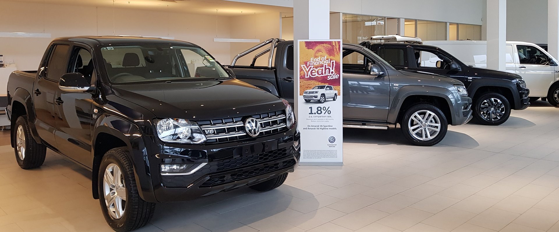 We have Amarok V6 Sportline and Amarok V6 Highline in stock immediate delivery