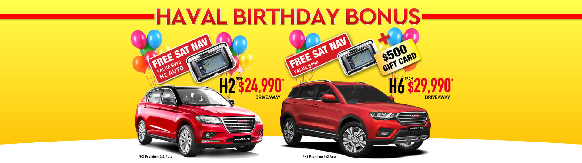 Haval Birthday Bonus